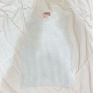 White ribbed Forever21 Tank top